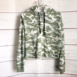 PINK Camo Cropped Hoodie